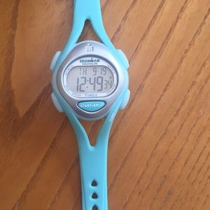 Ironman Women's triathlon watch Timex Aqua Blue